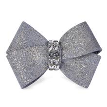 Platinum Glitzerati Nouveau Bow 2-Piece Dog Hair Bow Set by Susan Lanci