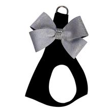 Platinum Glitzerati Nouveau Bow Step-In Dog Harness by Susan Lanci - Black