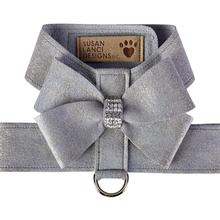 Platinum Glitzerati Nouveau Bow Tinkie Dog Harness by Susan Lanci