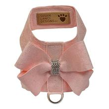 Glitzerati Nouveau Bow Tinkie Dog Harness by Susan Lanci - Puppy Pink