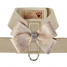 Champagne Glitzerati Nouveau Bow Tinkie Dog Harness by Susan Lanci - Doe
