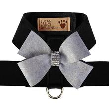 Platinum Glitzerati Nouveau Bow Tinkie Dog Harness by Susan Lanci - Black