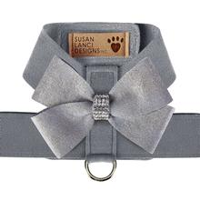 Platinum Glitzerati Nouveau Bow Tinkie Dog Harness by Susan Lanci - Platinum