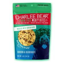 Charlee Bear Freeze Dried Meaty Bites Dog Treat - Chicken Liver & Blueberries
