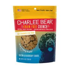 Charlee Bear Grain Free Bear Crunch Dog Treats - Bacon & Blueberry