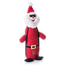 Charming Christmas Bottle Bros Durable Dog Toy - Santa