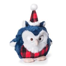 Charming Christmas Hoots Dog Toy - Blue