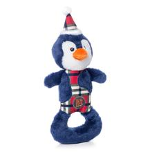 Charming Christmas Polar Patches Durable Dog Toy - Penguin