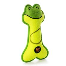 Charming Lil' Racquets Durable Dog Toy - Frog