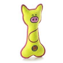 Charming Lil' Racquets Durable Dog Toy - Pig
