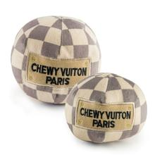 Checker Chewy Vuiton Ball Dog Toy