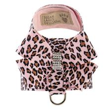 Cheetah Couture Nouveau Bow Tinkie Dog Harness by Susan Lanci - Pink Cheetah