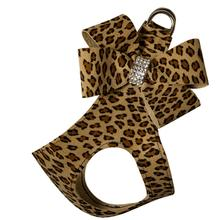 Cheetah Couture Nouveau Bow Step-In Dog Harness by Susan Lanci - Cheetah