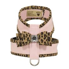 Cheetah Couture Two-Tone Big Bow Tinkie Dog Harness by Susan Lanci - Puppy Pink