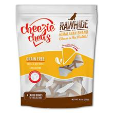 Cheezie Chews Knotted Rawhide with Himalayan Brand Cheese Chews Dog Treat - Large