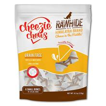 Cheezie Chews Knotted Rawhide with Himalayan Brand Cheese Chews Dog Treat - Small