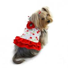 Cherries Cotton Knit Dog Sundress by Klippo