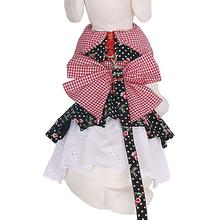 Cherry Pie Dog Harness Dress with Leash