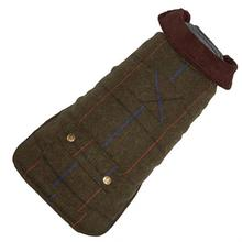 Green Tweed Dog Coat by Up Country