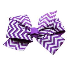 Chevron Dog Bow - Purple