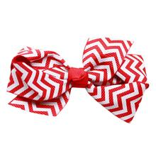 Chevron Dog Bow - Red