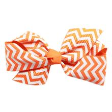 Chevron Dog Bow - Orange