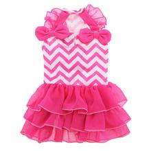 Chevron Dog Dress by Dogo - Pink