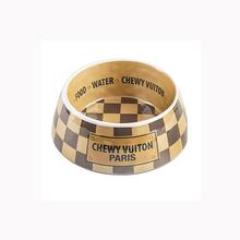 Checker Chewy Vuiton Dog Bowl by Haute Diggity Dog