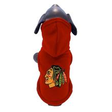 Chicago Blackhawks Polar Fleece Hooded Dog Jacket