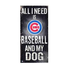 Chicago Cubs Baseball and My Dog Wood Sign