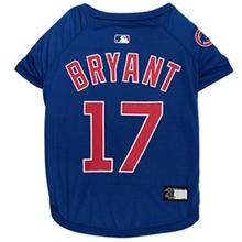 Chicago Cubs Kris Bryant Dog T-Shirt - Blue