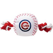 Chicago Cubs Nylon Plush Baseball Rope Dog Toy