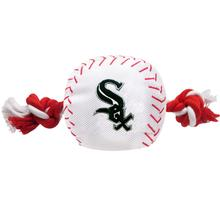Chicago White Sox Nylon Plush Baseball Rope Dog Toy