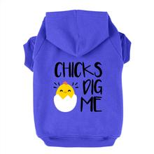 Chicks Dig Me Dog Hoodie - Blue