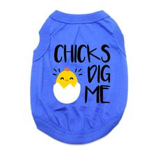 Chicks Dig Me Dog Tank - Blue