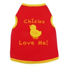 Chicks Love Me Dog Tank - Red