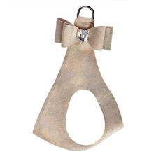 Champagne Glitzerati Big Bow Step-In Dog Harness by Susan Lanci