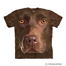 Chocolate Lab Face Human T-Shirt by The Mountain