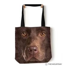 Chocolate Lab Face Tote Bag by The Mountain