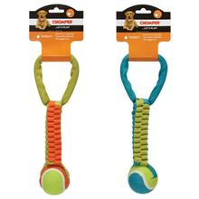 Chomper Braided Nylon Tennis Ball Tug Dog Toy