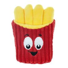Chomper Food Junkeez Plush Dog Toy - French Fry