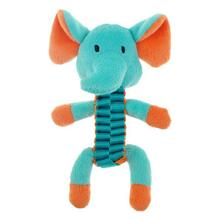 Chomper Mini Ballistic Twist Safari Pals Dog Toy - Elephant
