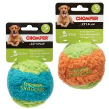 Chomper Shaggies Rubber Squeaker Ball Dog Toy