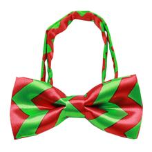 Christmas Chevron Dog Bow Tie