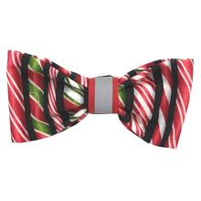 Holiday Ribbon Candy Dog Bow Tie from Daisy and Lucy