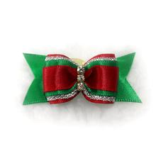 Christmas Dog Bow by Hello Doggie - Red and Green