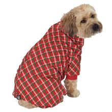 Christmas Plaid Dog Pajamas - Red