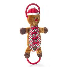 Christmas Ropes-A-Go-Go Gingerbread Man Dog Toy