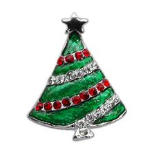Christmas Slider Dog and Cat Collar Charm - Christmas Tree