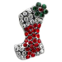 Christmas Slider Dog Collar Charm - Red Stocking